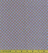 Blue Woven Rope Net Cowboy Lasso 100% Cotton Fabric 1/4 yard 22.5 cm off bolt