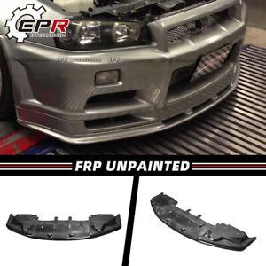 FRP OE Front Bumper Lip w/Undertray For NISSAN Skyline R34 GTR Bodykit Unpainted