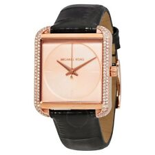 Michael Kors MK2611 Lake Rose Gold Crystals Leather Strap 39mm Watch
