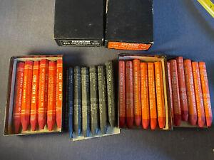 Dixon 6 Black #494, 12 Red #520 & 6 Red #826 Hard Lumber Crayons