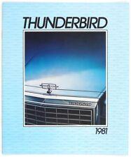 Ford 1981 Thunderbird Dealer Sales Brochure