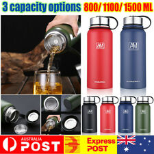 Stainless Steel Vacuum Water Bottle Double Wall Insulated Gym Sports Metal Flask