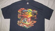 JOHN FOGERTY World Tour 2007 Black T-shirt BETSY BAYTOS design Rare Men's sz XL