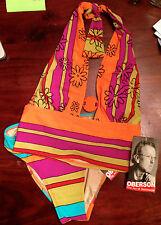 Gideon Oberson Tangerine Fresh Fun Retro 2 Piece Bikini USA Sz6 Rtl$152