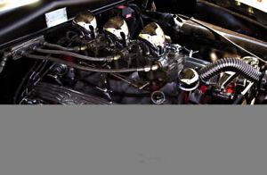 Engine Intake Manifold C357 B Three Deuce Edelbrock 5419
