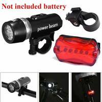 Wasserdicht 5 Led Licht Lampe Der Fahrrad Frontlampe + Hinten Sicherheits T E3T5
