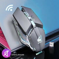 2.4G Wireless Mute Rechargeable Mouse LED Backlit 1600DPI Mechanical Mouse Mice
