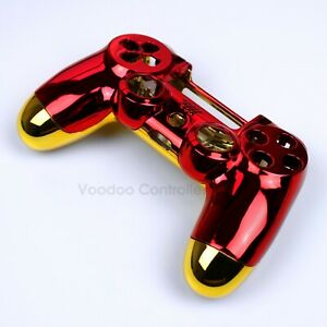 Custom Red/Gold Chrome Iron Man Playstation 4 Controller Housing Shell PS4 V2