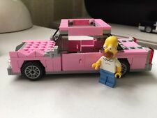 Lego Simpsons pink car and Homer minifig from set 71006. assembled - immaculate!