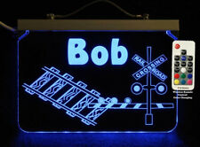Personalized Railroad Crossing LED Handmade Acrylic Sign, Train Sign, Handmade