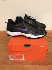 Nike Mens Zoom Cage 3 Rafa Nadal Hc Slk Tennis Shoes Black Violet Purple Size 10