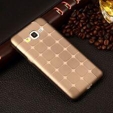 Samsung Galaxy J5 (J500F) Silikon Tasche TPU Hülle Bumper Case - CUBE GREY