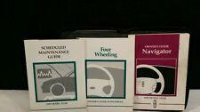 1999 LINCOLN NAVIGATER OEM OWNER'S MANUAL + GUIDES + CASE.