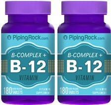 B COMPLEX PLUS VITAMIN B-12 PROTEASE NIACINAMIDE HEALTHY NERVOUS SYSTEM 360 TABS