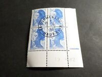FRANCE 1982, COIN DATE' timbre 2221, LIBERTE', oblitéré, VF STAMP