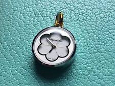 Tiffany & Co BLOSSOM white enamel pendant watch charm NEW