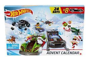 Authentic Hot Wheels Christmas Advent Calendar HotWheel Car Toy New