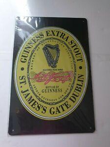 Guinness Label Metal Sign Plaque Man Cave Beer Retro Pub Bar Vintage Shed Garage