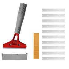 "Floor Scraper 4"" Width Blade Extendable Grip Sticker Remove / Glue / Paint Clean"