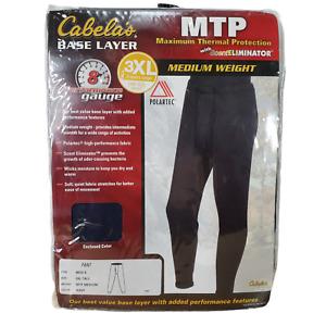 Cabelas 3XL Tall Pants NEW Base Layer MTP Blue Scent Eliminator Polartec XXXLT