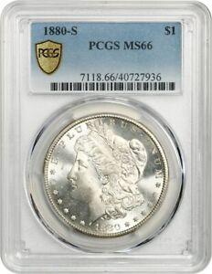 1880-S $1 PCGS MS66 - Frosty Gem! - Morgan Silver Dollar - Frosty Gem!