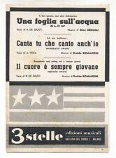 Spartito UNA FOGLIA SULL'ACQUA Gino Mescoli CANTA TU CHE CANTO ANCH'IO Romanoni
