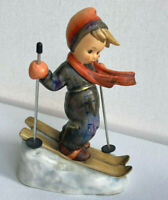"Vintage Hummel Goebel ""Skier""5 1/2"" HUM59 TMK6 *Sweet! Christmas gift-signed EUC"