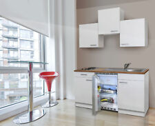 Cucina Mini Cucinino Singola Incasso Blocco 150 cm Bianco Respekta
