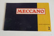 Ancien Livret de  MECCANO  N° 2