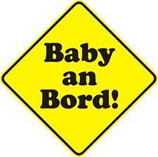 Aufkleber Baby on board Sticker XL, Baby an Bord, Warnhinweis Art. 105_15cm
