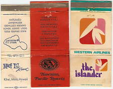 Lot of 3 Diff. Vintage Matchbook Covers HAWAII RESORTS