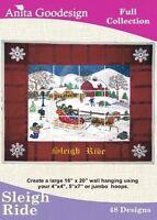 Anita Goodesign Sleigh Ride Embroidery Machine Design CD