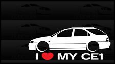 I Heart My CE1 Sticker Love Honda Accord Slammed JDM Japan Wagon Low Car