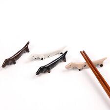 1X Animal Ceramic Chopsticks Spoon Fork Holder Kitchen Chopstick Rest Stand DD
