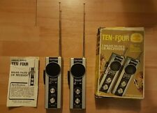 Vintage 1960s-70sTen-Four Walkie talkies.40AM Channel CB receiver, 49.860mhz MIB