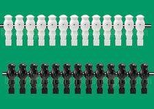 "13 Black/13 White Robotic Style Foosball Men for a 5/8"" Rod"