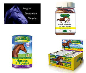 VERM-X HERBAL PELLETS FOR HORSES & PONIES EQUINE HORSE WORMERS & ENDOPARASITES