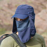 Ee _ 360°Exterior Protección UV Orejera Cuello Cubierta Sol Gorra Pescar Escalar