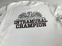 The University Of Chicago T-Shirt Adult SZ M/L Intramural Champion Alumni Grad