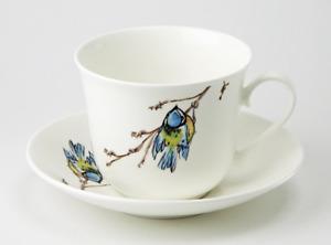 Roy Kirkham - Breakfast Cup and Saucer - Birds - Blue Tit