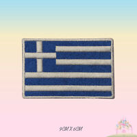 Greece National Flag Embroidered Iron On Patch Sew On Badge Applique