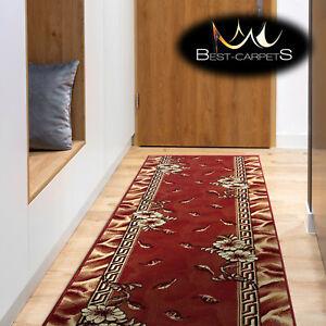 Modern Hall Carpet Runner BCF TRIO red Stairs Width 60cm-200cm extra long RUGS