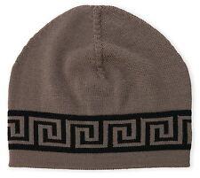 $265 New VERSACE Greek Key Beanie Hat