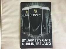 COOL BREWERIANA: St. James Gate Guinness Metal Beer Sign NEW 8 x 11-3/4