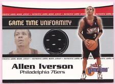 ALLEN IVERSON 2000-01 FLEER GAME TIME UNIFORMITY JERSEY 76ERS