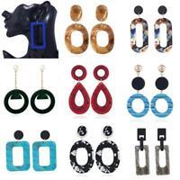1 Pair Women Fashion Geometric Long Drop Dangle Earrings Ladies Party Jewelry