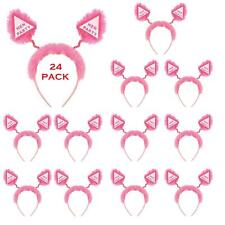 24 X Pink Hen Party Accessories Headband Boppers Girls Night Out Fancy Dress