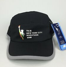New Balance New York City Marathon 2018 Event Running Hat Black Reflective Mesh