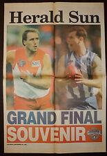 1996 AFL Herald Sun Grand Final Souvenir Lockett Wayne Carey Newspaper poster