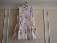 NWT $108 Janie And Jack Forever Flowers Girls  FLORAL DROPWAIST DRESS 5 5T